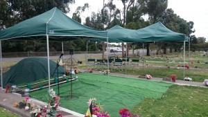 DWB setup Cranbourne Cemetery